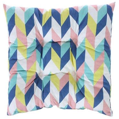 Подушка для стула Скандинавия 40х40 см цвет синий цена