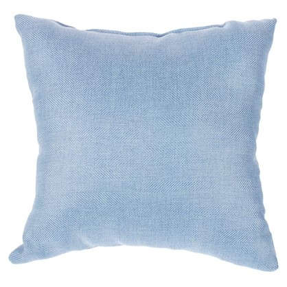 Подушка Лен елочка 40х40 см цвет голубой цена