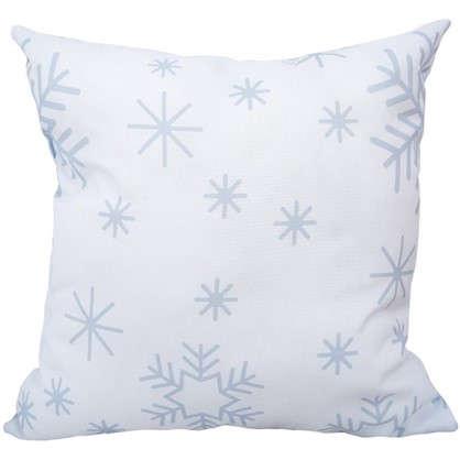 Подушка Новый год снежинки 40х40 см цена
