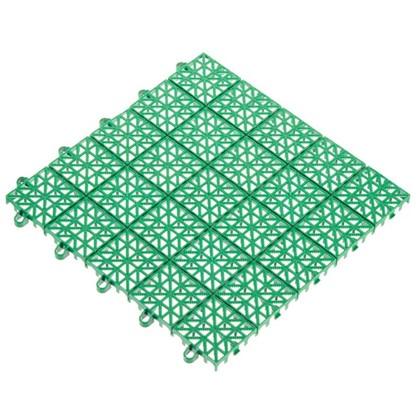 Покрытие садовое из ЭКО-пластика 34х34 см цвет зелёный/терракот 9 шт. цена