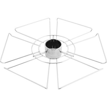 Полка для бокалов 360 мм цвет  хром цена