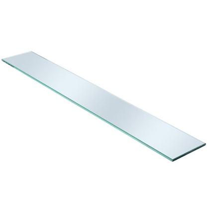 Полка для ванной комнаты 100х12 см стекло цена