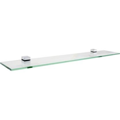 Полка для ванной комнаты 70х12 см стекло цена