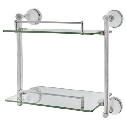 Полка для ванной комнаты Aster двухъярусная прямая