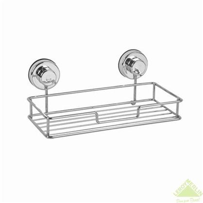 Полка для ванной комнаты Sensea Simply Lock на присоске  металл