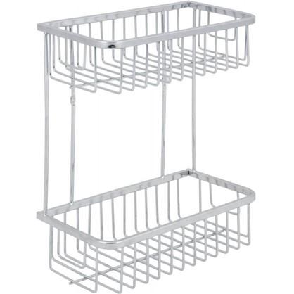 Полка для ванной комнаты Verran прямоугольная двухъярусная 25x30x13.3 см цена