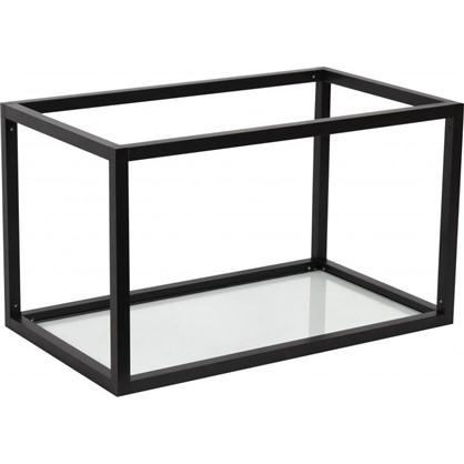Полка-каркас для стеллажа 35х35х60 см алюминий/стекло