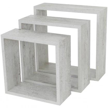 Полка кубическая 20х10 см/24х10 см/28х10 см цвет светлый 3 шт. цена