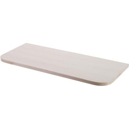 Полка мебельная с закругленными углами 600х250х16 ЛДСП цвет дуб беленый цена