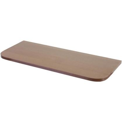 Полка мебельная с закругленными углами 600х250х16 мм ЛДСП орех