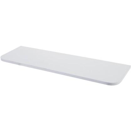 Полка мебельная с закругленными углами 800x250x16 мм ЛДСП цвет белый