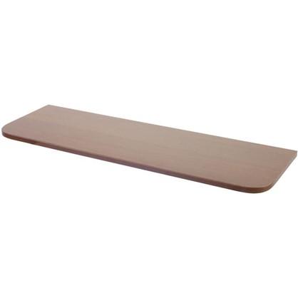 Полка мебельная с закругленными углами 800x250x16 мм ЛДСП орех