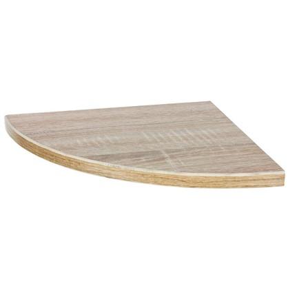 Полка мебельная закругленная секторальная 250x250x16 ЛДСП цвет дуб сонома