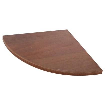 Полка мебельная закругленная секторальная 250x250x16 мм ЛДСП цвет орех темный цена