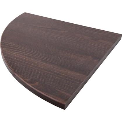 Полка мебельная закругленная секторальная 350x350х16 мм ЛДСП цвет дуб термо темный цена