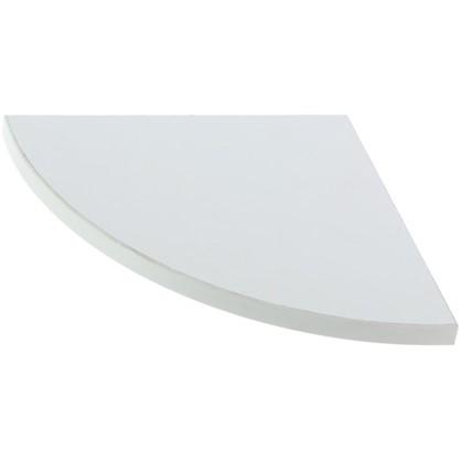 Полка мебельная закругленная секторальная 350x350x16 ЛДСП цвет белый