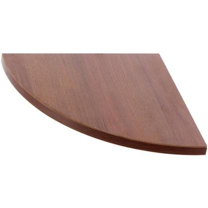 Полка мебельная закругленная секторальная 350x350x16 мм ЛДСП цвет орех