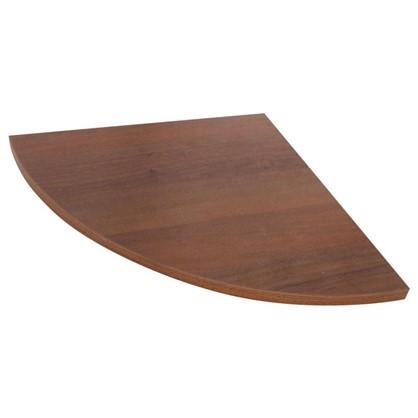 Полка мебельная закругленная секторальная 350x350x16 мм ЛДСП цвет орех темный