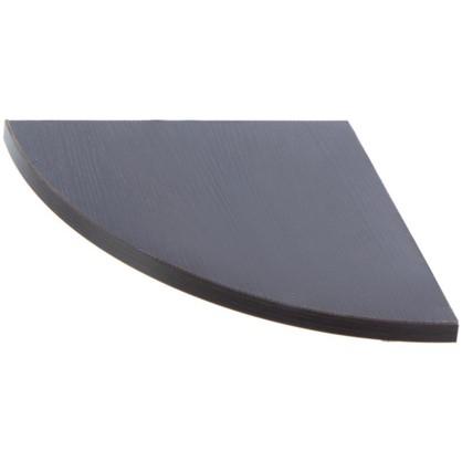 Полка мебельная закругленная секторальная 350x350x16 ЛДСП цвет венге