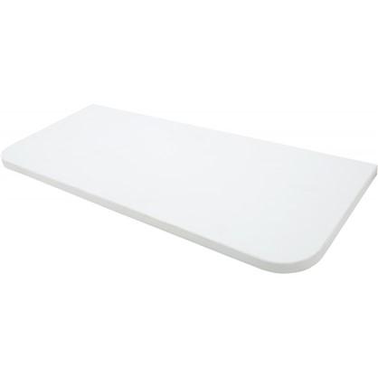 Полка мебельная закругленная угловая 600x250х16 мм ЛДСП цвет белый премиум цена