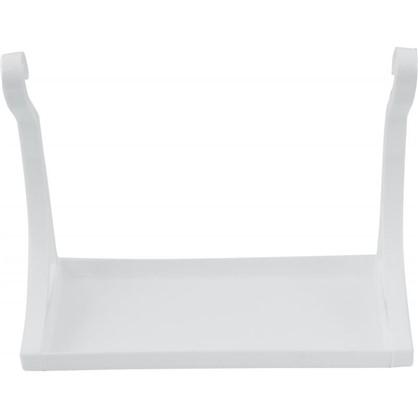 Полка настенная 280х210х120 см пластик цвет белый цена