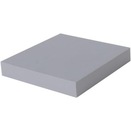Полка прямоугольная 23х23 см МДФ сталь цвет серый цена