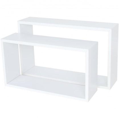 Полка прямоугольная 45х27 см/40х22 см цвет белый 2 шт. цена