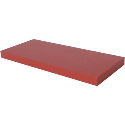 Полка прямоугольная 80х80 см МДФ сталь цвет красный