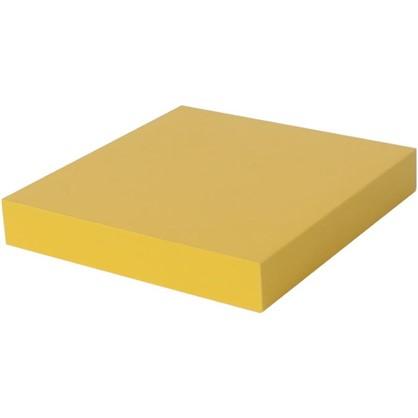 Полка со скрытым креплением Spaceo 230x235x38 мм МДФ цвет желтый цена