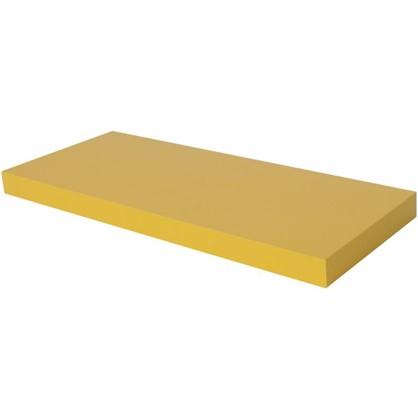 Полка со скрытым креплением Spaceo 800x235x38 мм МДФ цвет желтый цена