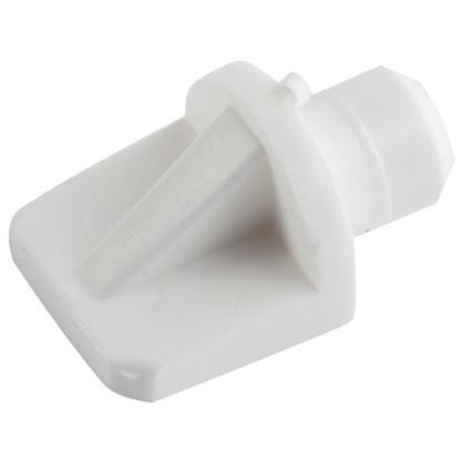 Полкодержатель мебельный лопатка 7 мм пластмасса цвет белый 16 шт. цена