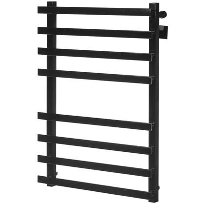 Полотенцесушитель водяной М81 80x50 см нержавеющая сталь цвет чёрный