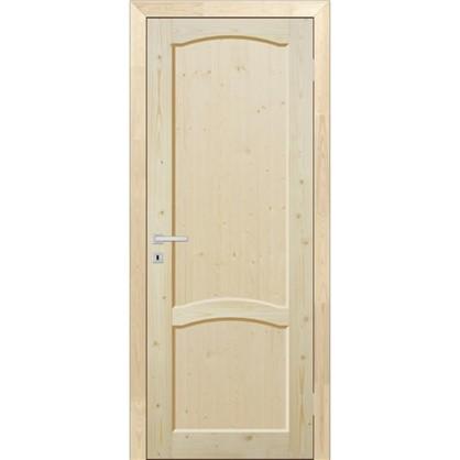 Полотно дверное глухое 60x200 см массив хвои цвет натуральный цена
