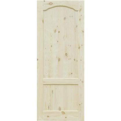 Полотно дверное глухое арочное с филенкой 80x200 см хвоя цвет натуральный
