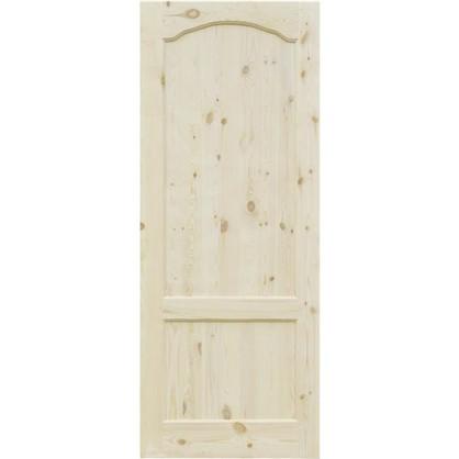 Полотно дверное глухое арочное с филенкой 90x200 см хвоя цвет натуральный цена