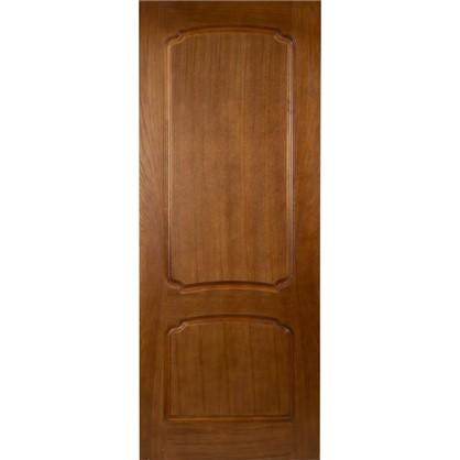 Полотно дверное глухое Helly 60x200 см шпон цвет тонированный дуб
