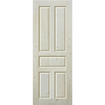 Полотно дверное глухое Кантри 70x200 см массив хвои цвет натуральный цена