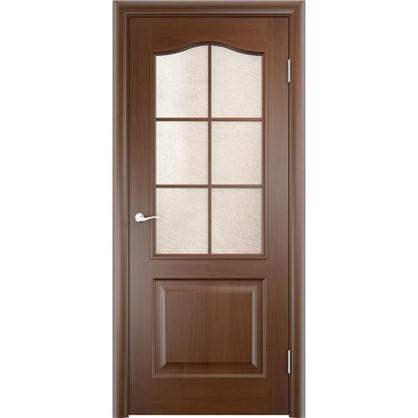 Полотно дверное остеклённое Антик 90x200 см ПВХ цвет дуб коньяк цена