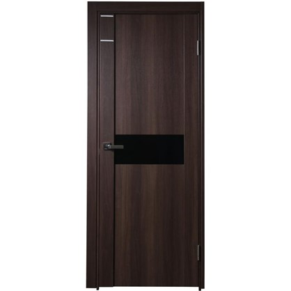 Полотно дверное остеклённое Artens Велдон 200x70 см цвет мокко