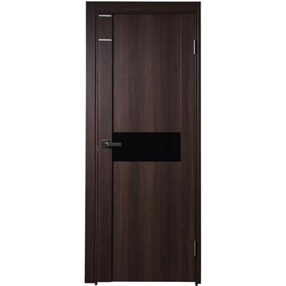 Полотно дверное остеклённое Artens Велдон 200x90 см цвет мокко цена