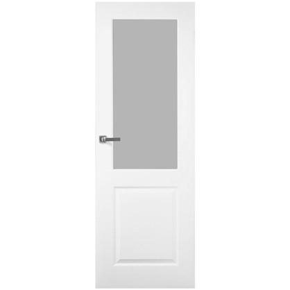 Полотно дверное остеклённое Австралия 200х80 см цвет белый цена