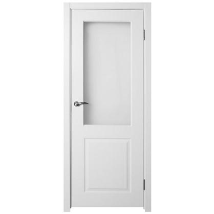 Полотно дверное остеклённое Австралия 200х90 см цвет белый цена