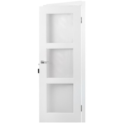 Полотно дверное остеклённое Британия 200х70 см цвет белый