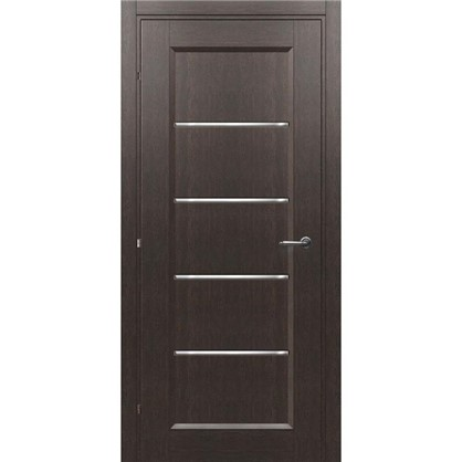 Полотно дверное остеклённое Candler 200х80 см цвет чёрный дуб цена