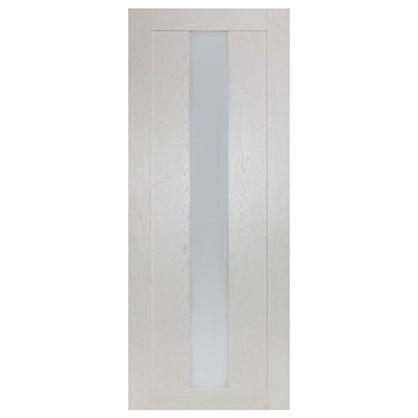Полотно дверное остеклённое Фортуна 200х80 см цвет белый дуб цена