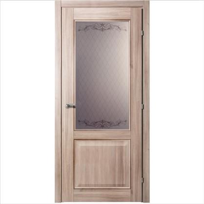 Полотно дверное остеклённое Катрин 80x200 см CPL цвет акация с фурнитурой