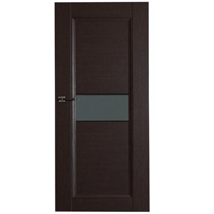 Полотно дверное остеклённое Конкорд cpl 200х80 см цвет черный дуб