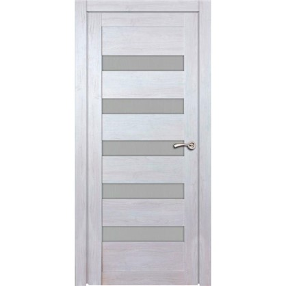 Полотно дверное остеклённое Лайн 200х80 см цвет дуб бриг цена