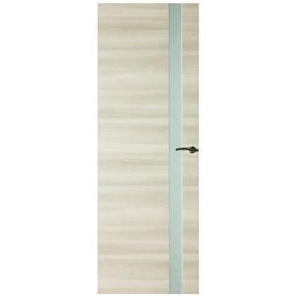 Полотно дверное остеклённое ламинированное Унико 200x60 см цвет светлый орех цена