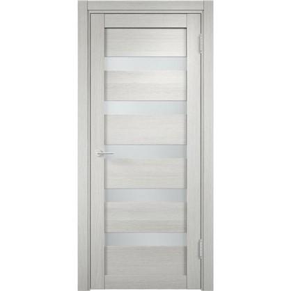 Полотно дверное остеклённое Мюнхен 80x200 см ламинация цвет слоновая кость 3D цена